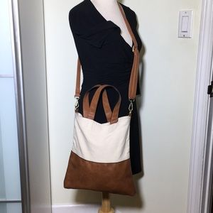 Free People canvas and vegan leather crossbody bag